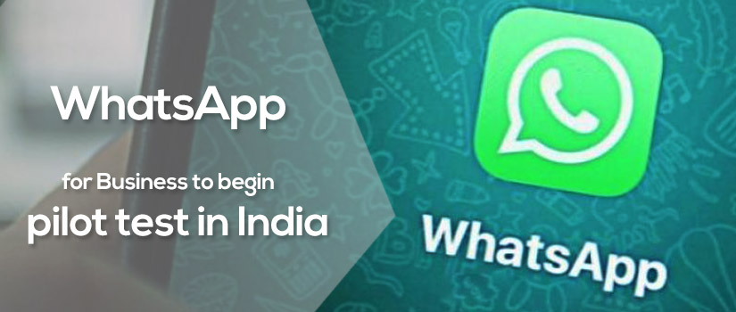 WhatsApp for Business to begin pilot test in India